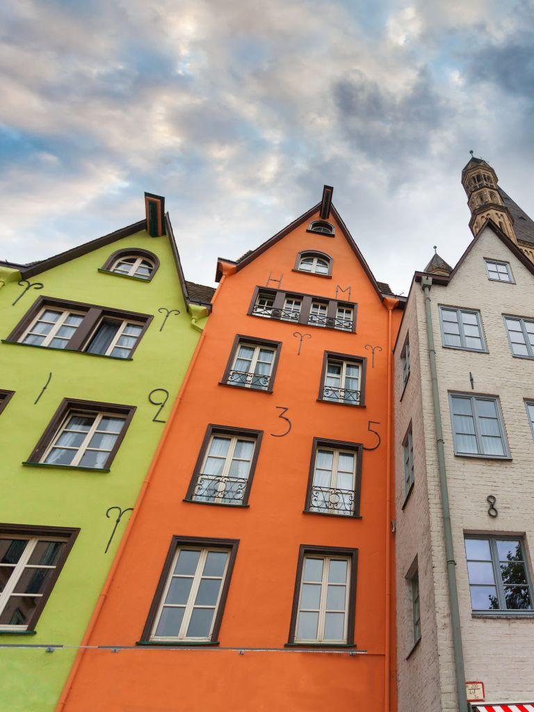 bunter Häuser in Köln
